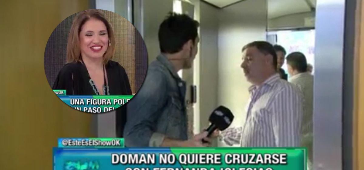 Doman abandonó un móvil de Este es el show porque en el piso estaba Fernanda Iglesias