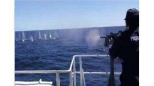 Prefectura Naval Argentina hundió un barco pesquero chino
