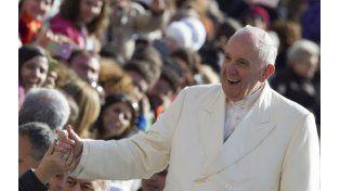 Aire libre. El Papa argentino ayer