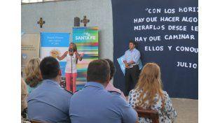 El jueves. Se realizó el acto de inicio de la modalidad para Adultos en la sede del Penal Nº 2 de Las Flores./ gentileza: Ministerio de Educación.