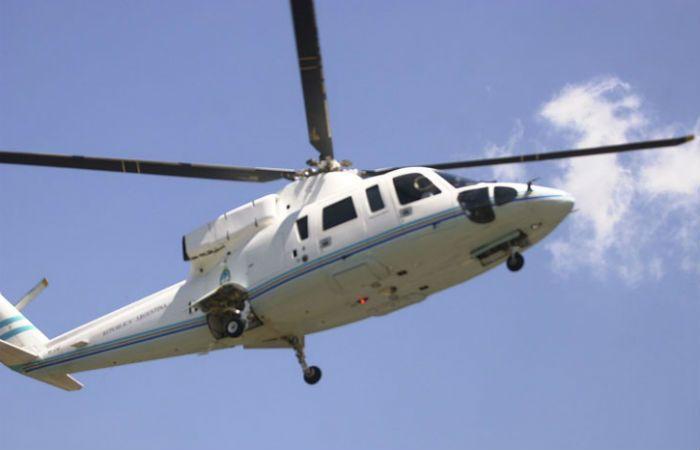 El helicóptero del presidente estuvo muy cerca de tener un accidente en Morón.