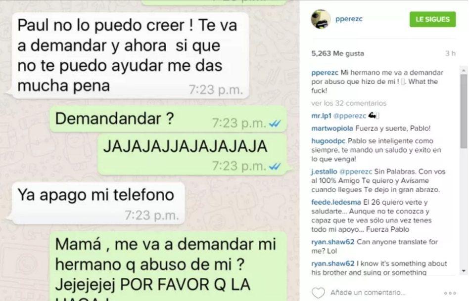 El hijo de Pérez Companc denunció que fue abusado por su hermano
