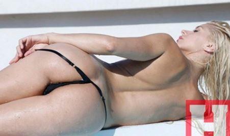 Carolina Ceballos se desnudó para la revista Hombre.
