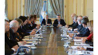 Los gobernadores se reunieron con Macri y el ministro del Interior