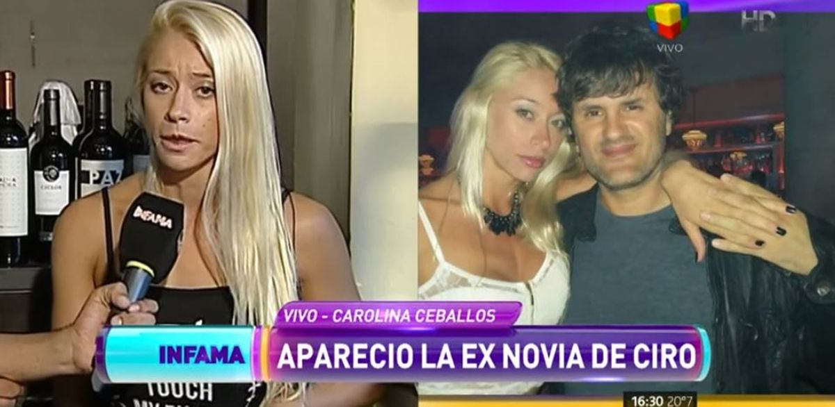 "Carolina Ceballos: ""Ciro armó todo esto para vender su disco"""