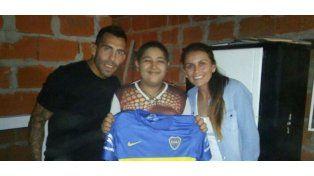 Alexis, el niño que lloró desconsolado al conocer a Tevez