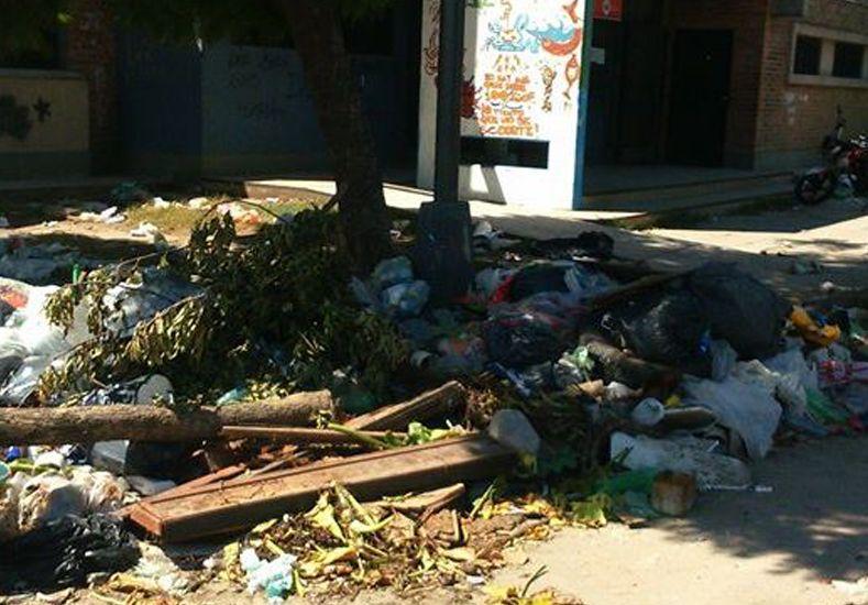 Vecinos denuncian un basural en la rotonda del Hipódromo