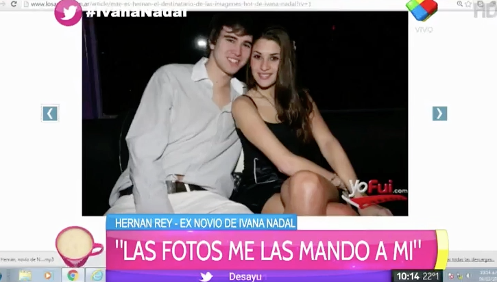"Apareció el destinatario de las fotos de Ivana Nadal: ""Me las mandó a mí"""