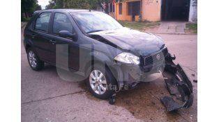 Así quedaron los vehículos tras el accidente.