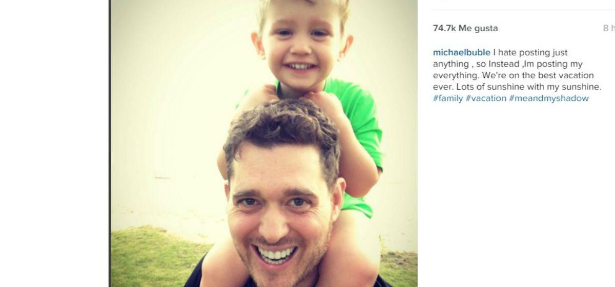 Mensaje a puro amor de Michael Bublé para su hijo Noah