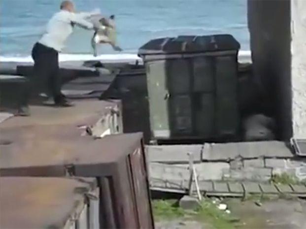 En el video no se ve que nadie corra peligro. Es más