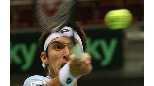 El correntino Leonardo Mayer consiguió el segundo punto de Argentina. (Foto: AP)