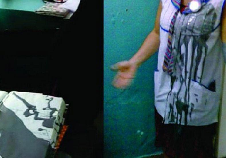 Le tiró pintura a la vicedirectora porque su hijo se manchó el guardapolvos