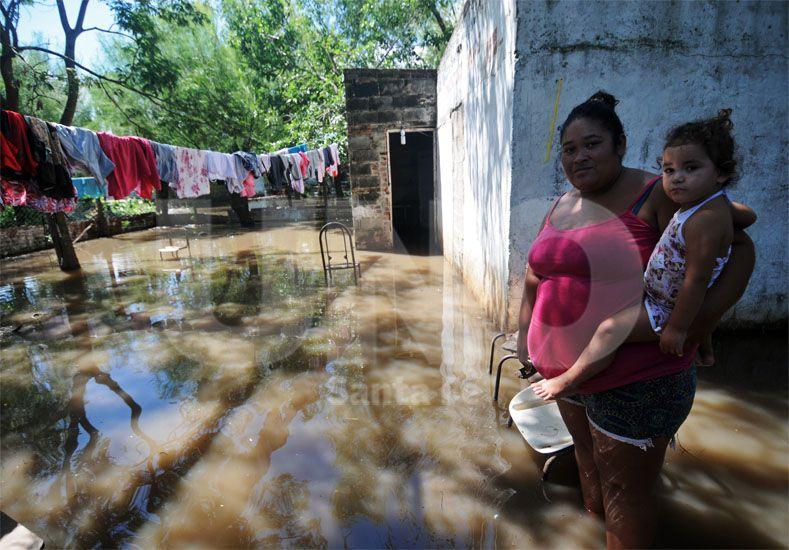 Anegadas. Las viviendas más bajas tenían en sus patios y en el interior / Foto: Mauricio Centurión - Uno Santa Fe