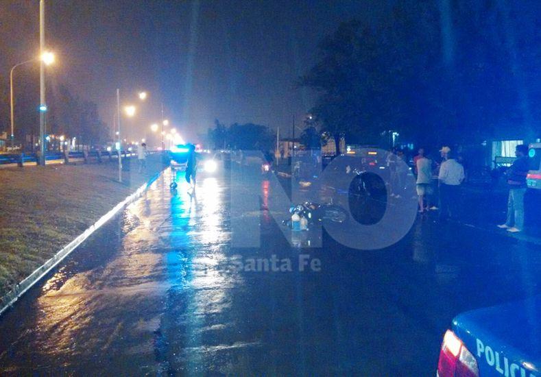 Chocaron violentamente dos motociclistas en Las Toscas y uno de ellos falleció