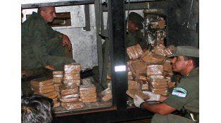 La droga secuestrada en Misiones.