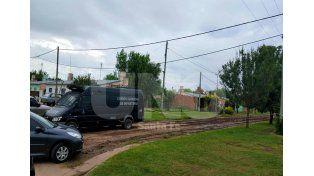 El lugar en barrio Nuevo Horizonte donde se produjo el secuestro de la droga.