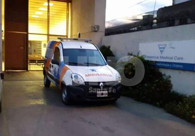 Recuperada. Ambulancia de empresa Sol Salud que denunciaron robada desde una clínica local.