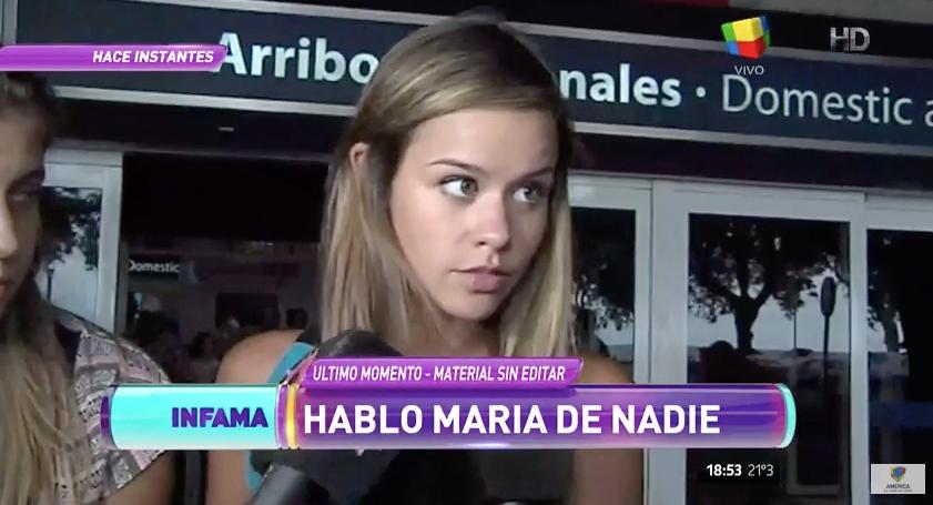 """María del Mar: """"Estoy mal"""""""