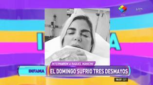 Raquel Mancini, internada de urgencia luego de sufrir tres desmayos