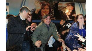 Máximo Kirchner asistió al discurso que pronunció su tía