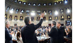 Macri inauguró el nuevo período de sesiones ordinarias de la Asamblea Legislativa. (Foto: Télam)
