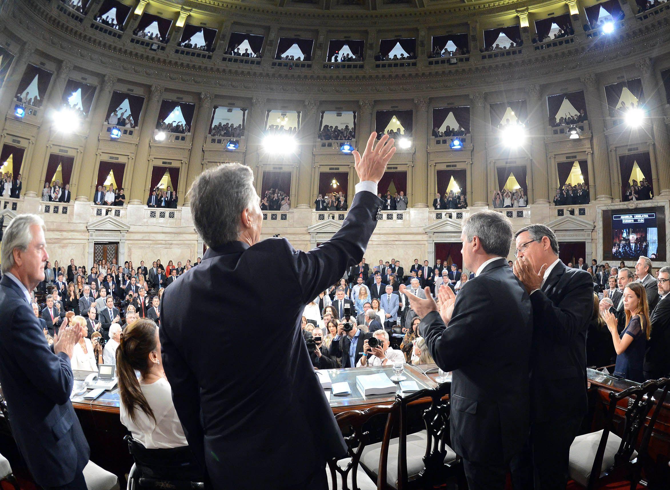 Macri inauguró el nuevo período de sesiones ordinarias de la Asamblea Legislativa.