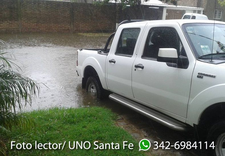 Nestor Salinas compartió la foto del frente de su casa en barrio Guadalupe