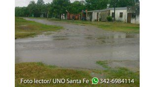 La lluvia azotó a la región. Alexis Benítez mandó esta foto desde la localidad de San Antonio de Obligado