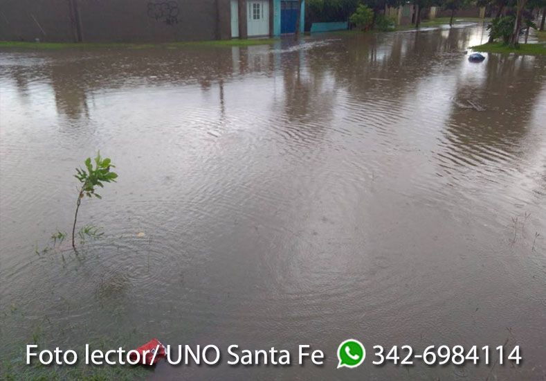 Así está barrio Nueva Esperanza. Gentileza: Lorena Bontempi