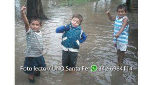 Calles inundadas en Alto Verde. Gentileza Daniel