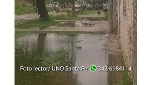Celeste mandó fotos de barrio San José tras la lluvia.