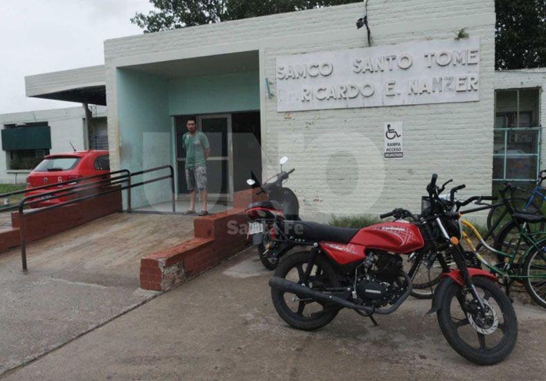 En primera instancia el delincuente fue atendido en el Samco de Santo Tomé.