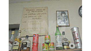 Postal. Una gran frase acompañada por la foto del inolvidable Carlos Monzón. Foto: Manuel Testi / Diario UNO Santa Fe