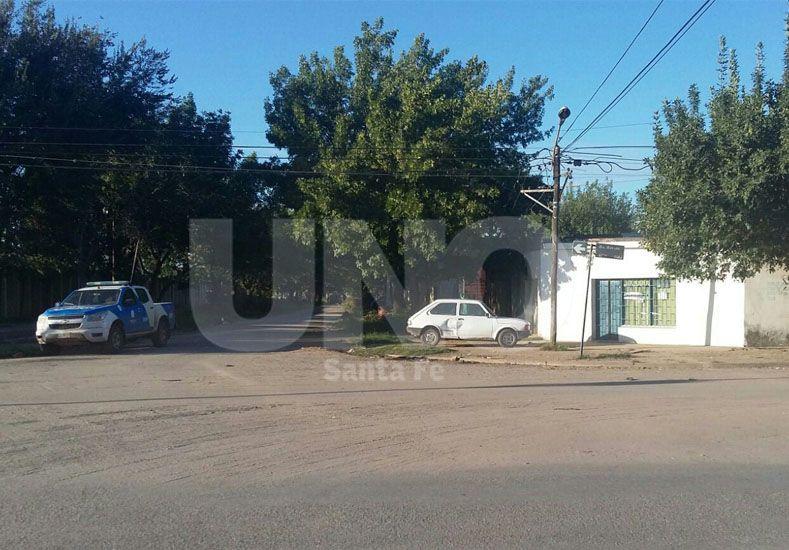 El lugar en donde ocurrió el homicidio en barrio Los Troncos.