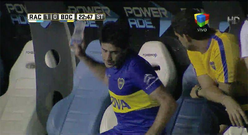 La furia de Pablo Pérez cuando fue reemplazado