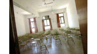 Vacías. El lunes las aulas no recibirán a los alumnos de nivel inicial y primario