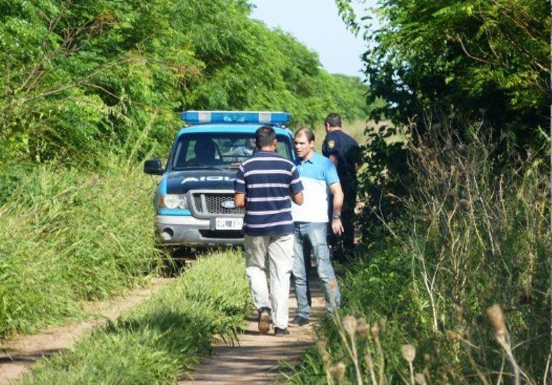 Crimen. El lugar donde sucedió el hecho fue en el camino rural Nº 12 en cercanías a una escuela. Gentileza/El Colono del Oeste