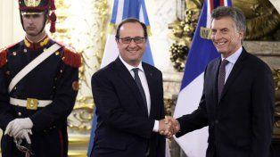 El presidente de Francia inició su actividad oficial en la Argentina