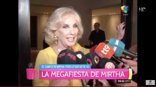 Mirtha aprobó el romance de su nieto con Pampita