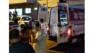 Conmoción. Uno de los fallecidos era suboficial y fue trasladado al hospital Cullen tras ser herido con un arma de fuego.