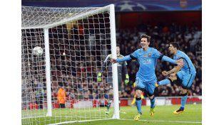 Messi logró batir a Cech: Barcelona ganó 2 a 0 en Londres