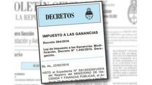 Formalizan modificaciones en el impuesto a las Ganancias para la cuarta categoría