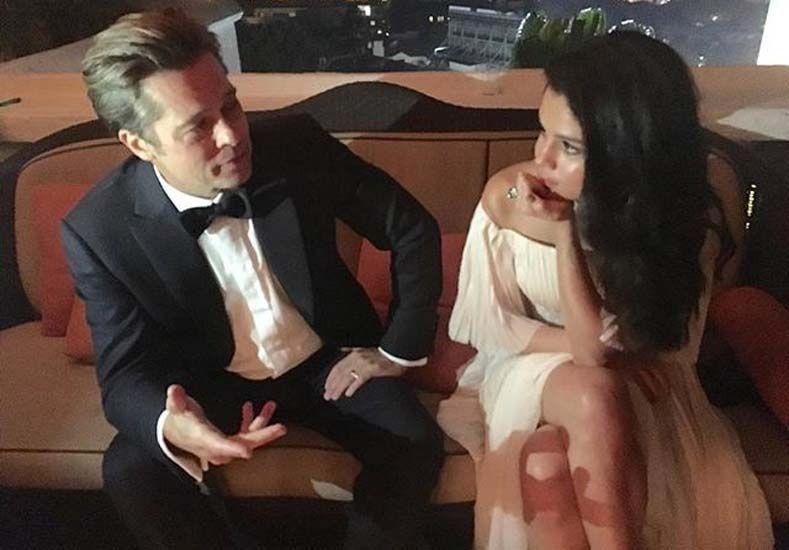 Aseguran que Brad Pitt le fue infiel a Angelina Jolie con la joven Selena Gomez
