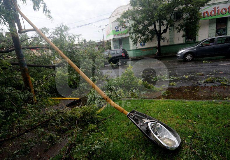 El estado en que quedaron los diferentes barrios tras el paso de la tormenta./ Manuel Testi.