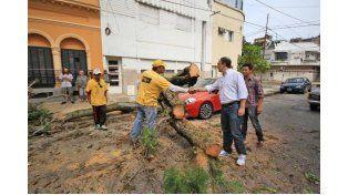 Municipio y Provincia coordinan acciones para normalizar la situación ante el temporal