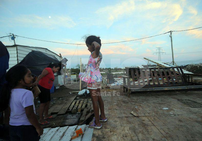 Luego del temporal, hay 17 familias evacuadas