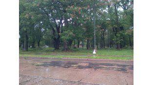 Así quedó el Parque Juan de Garay./ gentileza Mariano.