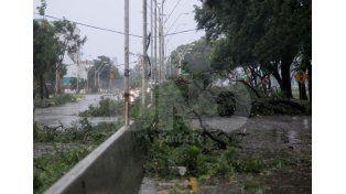 Así quedó Avenida Alem tras el temporal. Foto: Manuel Testi / Diario UNO Santa Fe