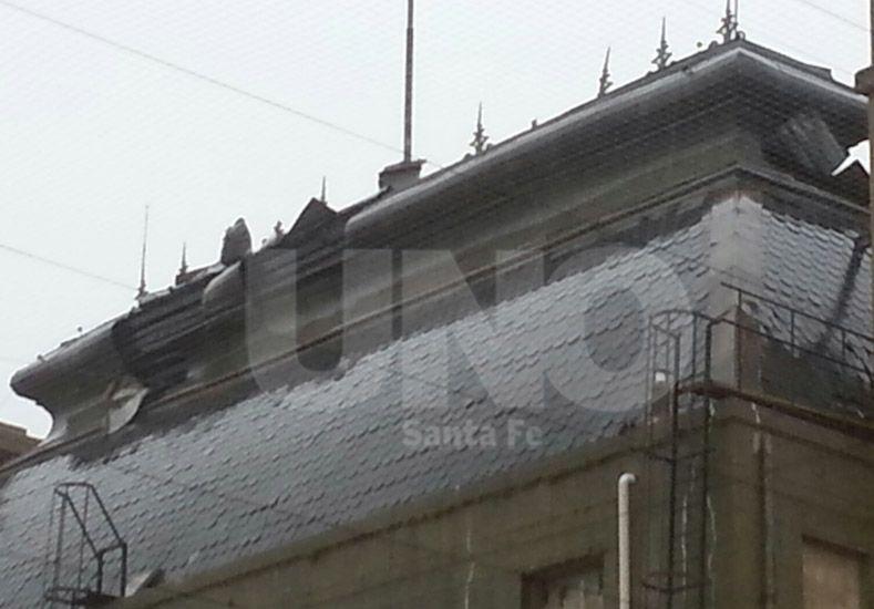 Así quedó la cúpula de la Casa Gris. Foto: Leandro